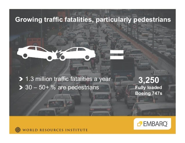 Is your city safer by design? Holger Dalkmann - EMBARQ - Transforming Transportation 2014 - EMBARQ The World Bank Slide 3