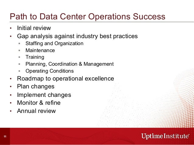 • Initial review • Gap analysis against industry best practices § Staffing and Organization § Maintenance § Traini...