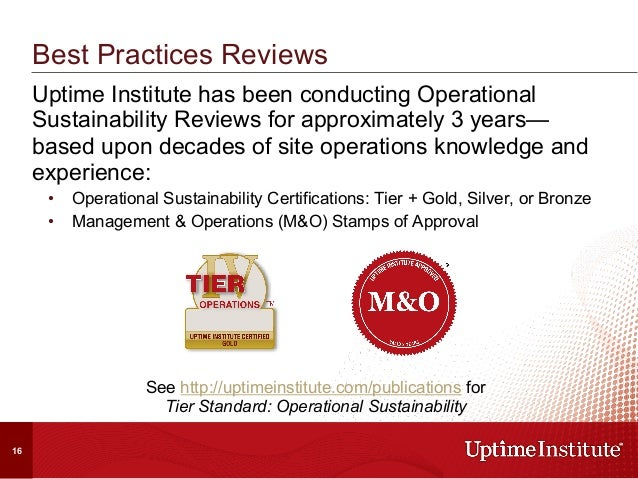 Uptime Institute has been conducting Operational Sustainability Reviews for approximately 3 years— based upon decades of s...