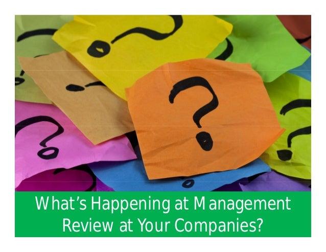 management review process adding