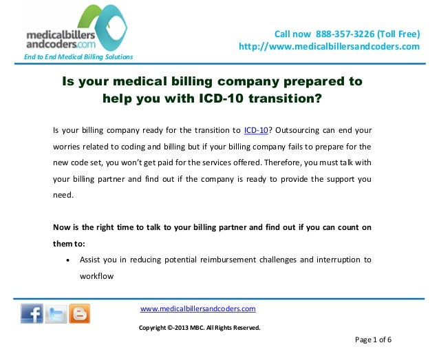 End to End Medical Billing Solutions Call now 888-357-3226 (Toll Free) http://www.medicalbillersandcoders.com www.medicalb...