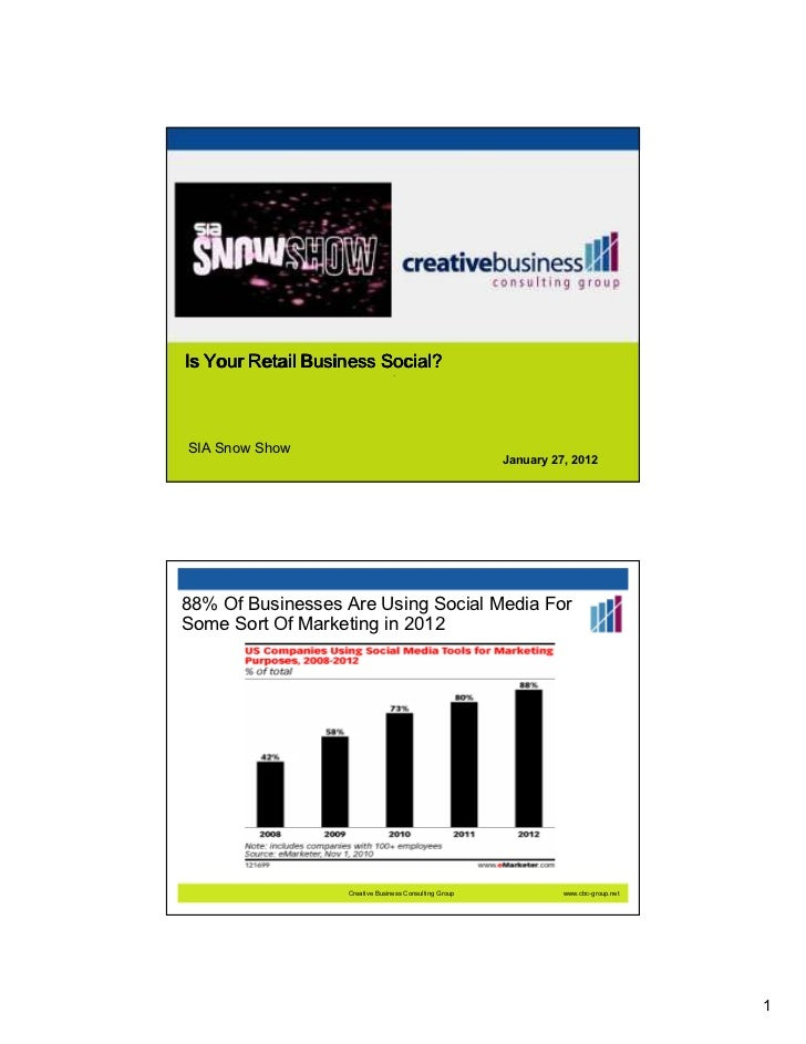 Is Your Retail Business Social?                                 —SIA Snow Show                                            ...