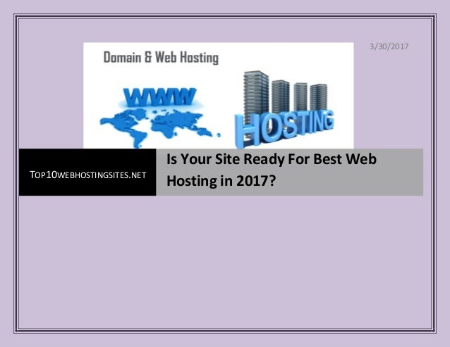 Лучший хостинг для сайта 2017 как создать свой хостинг сервера ксс