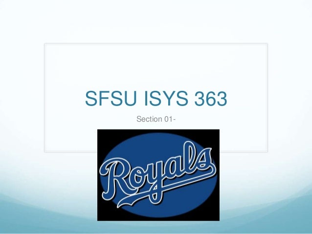 SFSU ISYS 363 Section 01-