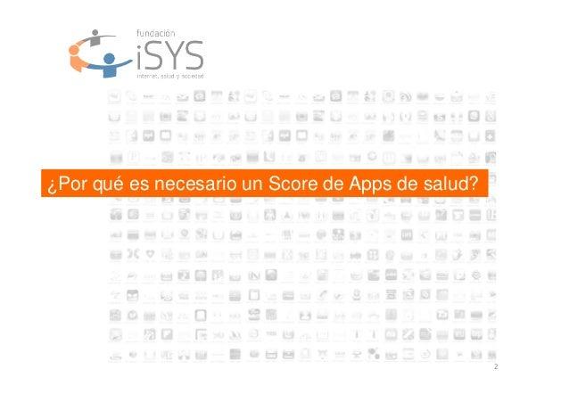 2 ¿Por qué es necesario un Score de Apps de salud?