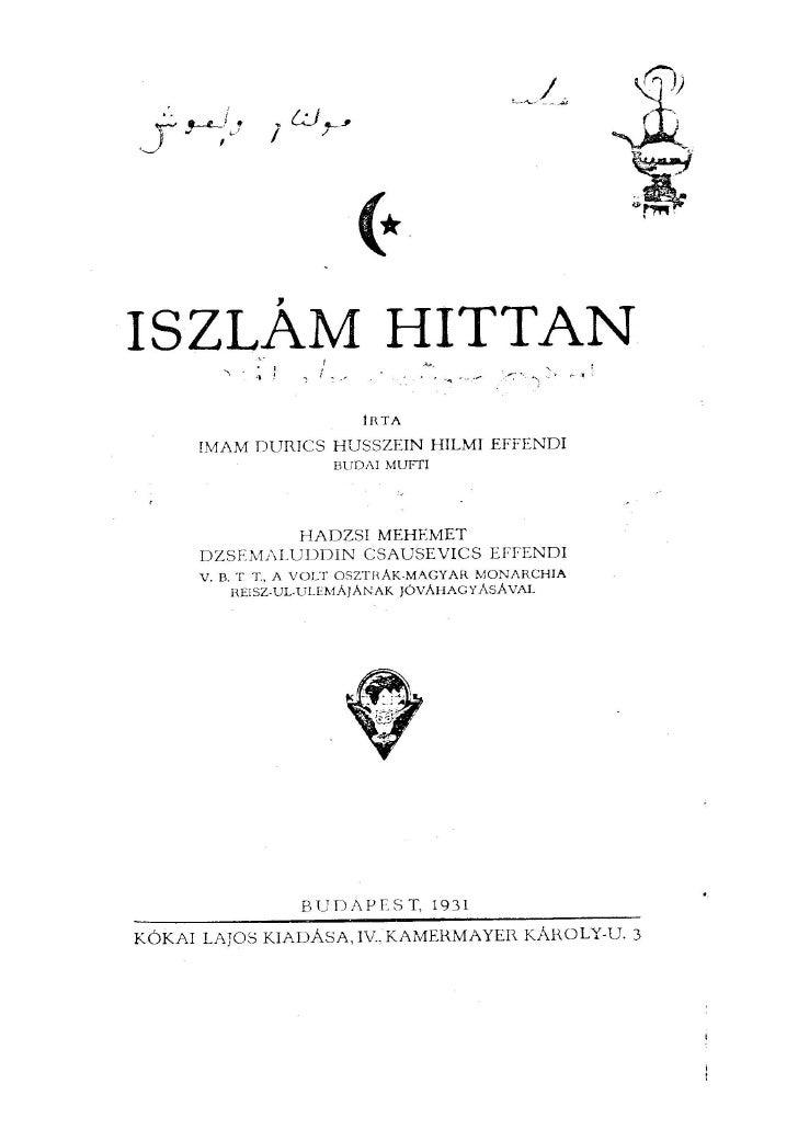 Iszlám hittan