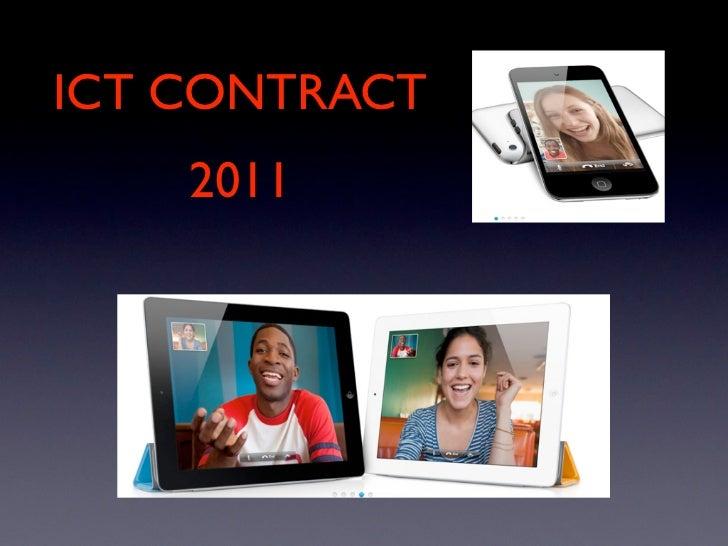 ICT CONTRACT    2011
