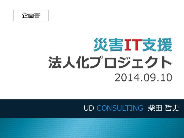 UD CONSULTING 柴田 哲史  企画書
