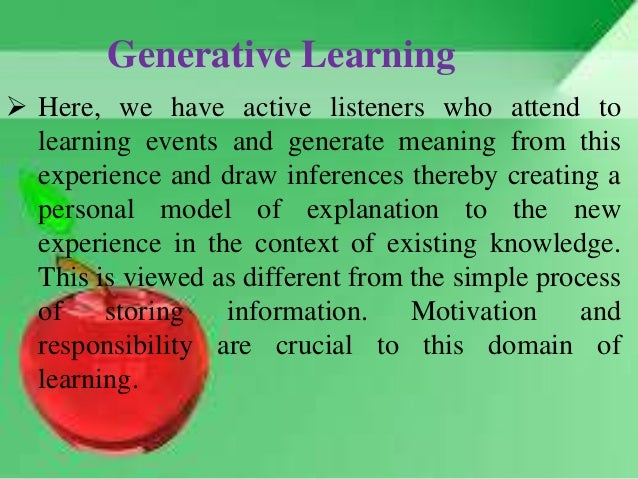 it in the new learning environment Creating a model of a learning environment then is a heuristic device that aims to provide a comprehensive view of the whole teaching context for a particular course or program, by a particular instructor or teacher with a particular view of learning.