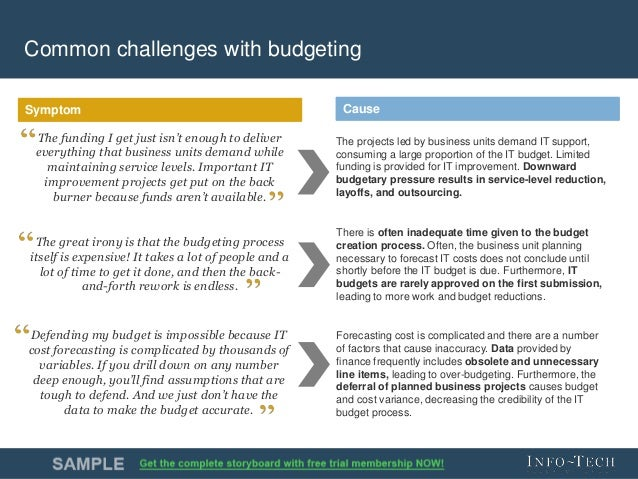 Build An It Budget That Demonstrates Value Delivery