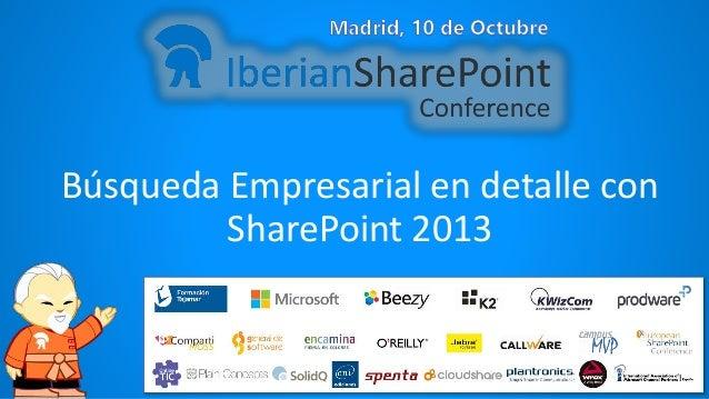 Búsqueda Empresarial en detalle con SharePoint 2013