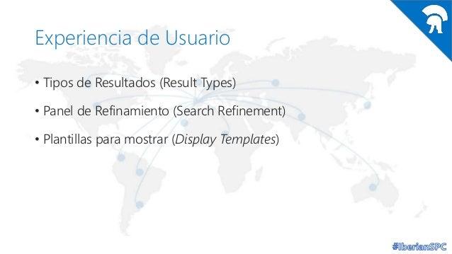 Experiencia de Usuario • Tipos de Resultados (Result Types) • Panel de Refinamiento (Search Refinement) • Plantillas para ...