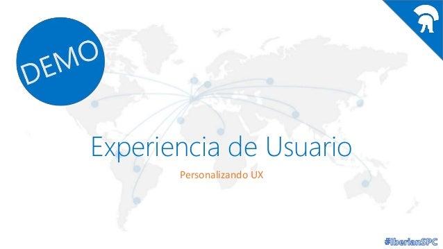 Experiencia de Usuario Personalizando UX
