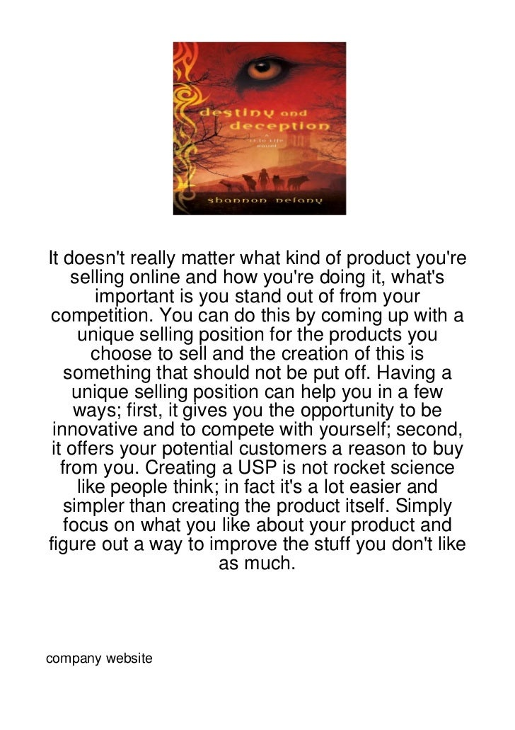 It doesnt really matter what kind of product youre     selling online and how youre doing it, whats         important is y...