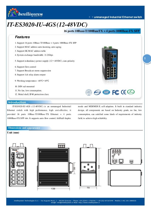 IT-ES3020-IU-4GS - Switch Ethernet Unmanaged Industrial