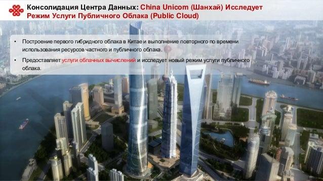 19 Консолидация Центра Данных: China Unicom (Шанхай) Исследует Режим Услуги Публичного Облака (Public Cloud) • Построение ...