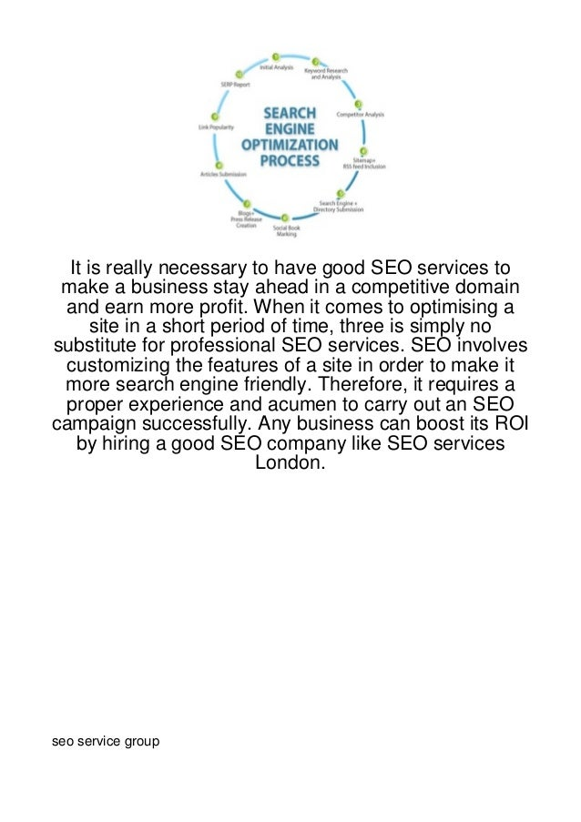 It is really necessary to have good SEO services to make a business stay ahead in a competitive domain and earn more profi...