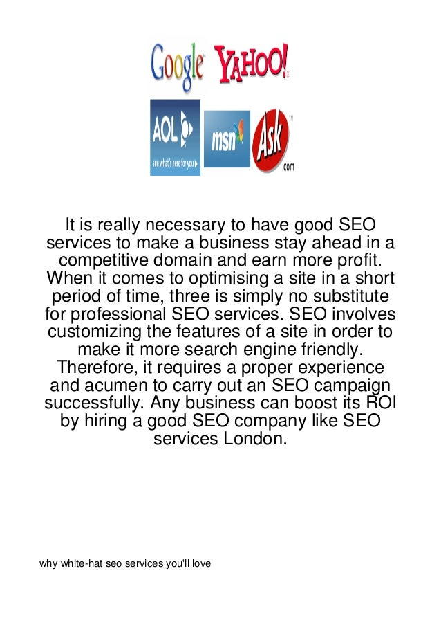 It is really necessary to have good SEO services to make a business stay ahead in a   competitive domain and earn more pro...