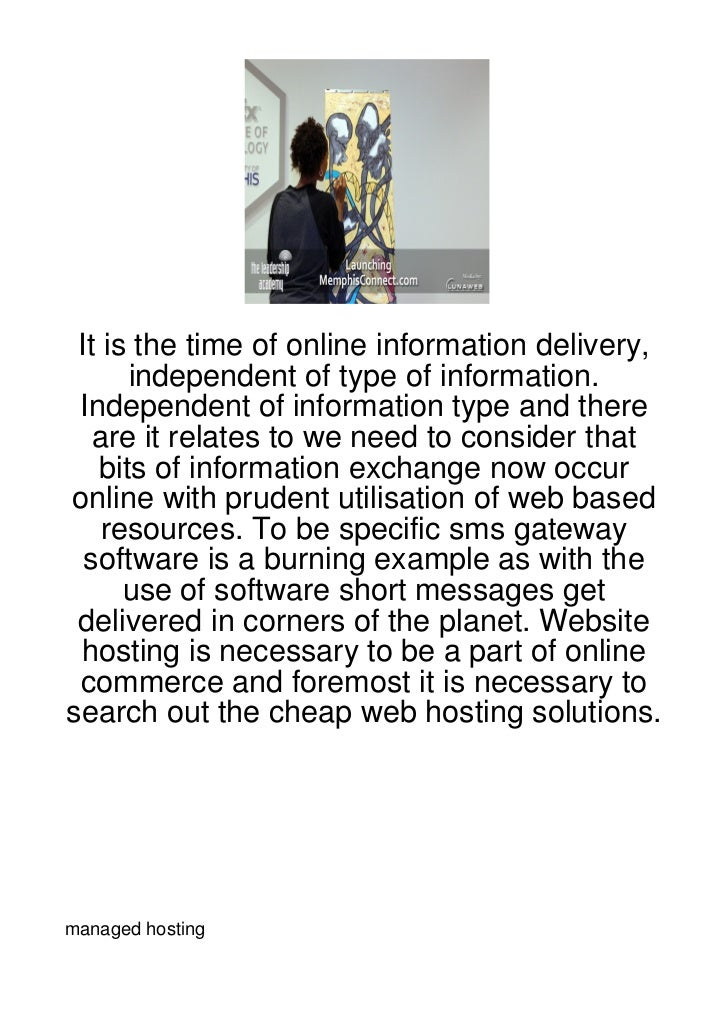 It is the time of online information delivery,      independent of type of information. Independent of information type an...