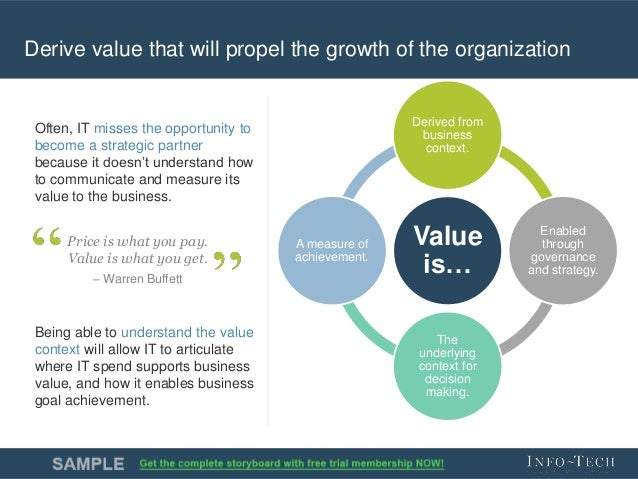 business it value Questions about the business value of it often come from senior business  executives outside the it organizations therefore, it's crucial for it.
