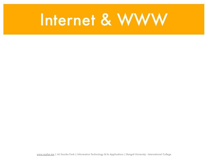 Internet & WWW                                                    Internetwww.sayfun.me | AJ Sascha Funk | Information Tec...