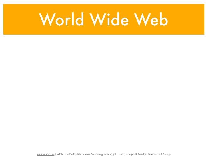 World Wide Webwww    www.sayfun.me | AJ Sascha Funk | Information Technology & Its Applications | Rangsit University - Int...