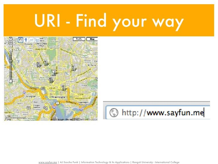 URI - Find your way                                                     Unified Resource Identifier - URI                   ...