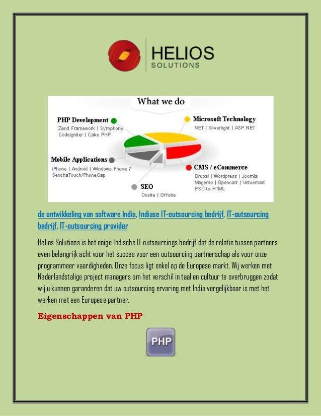 de ontwikkeling van software India, Indiase IT-outsourcing bedrijf, IT-outsourcingbedrijf, IT-outsourcing providerHelios S...