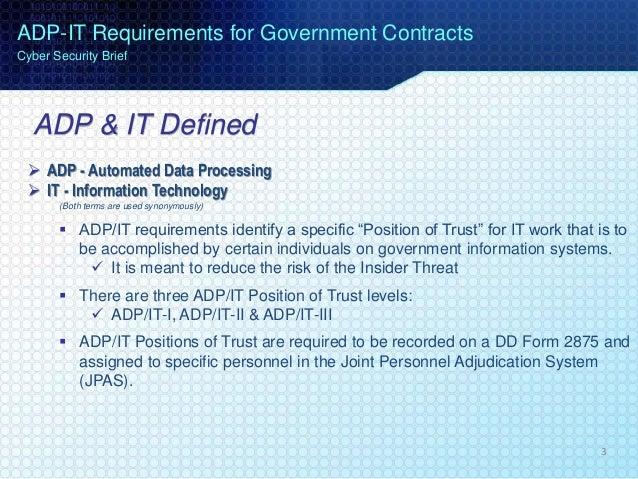 IT Position of Trust Designation