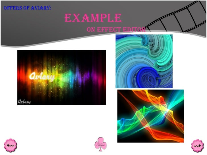 Example On Effect Editor Offers Of Aviary: