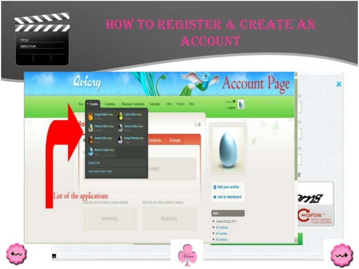 How to register & create an account