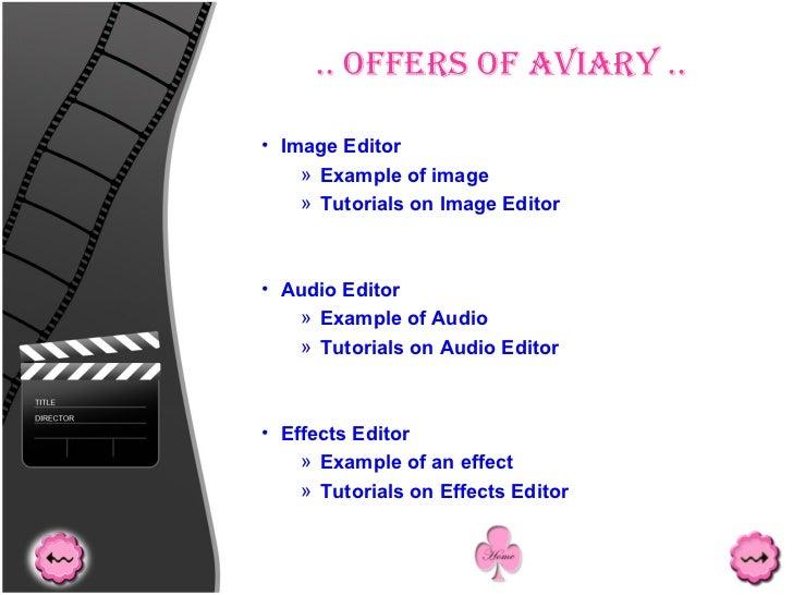 .. Offers Of Aviary .. <ul><ul><ul><ul><li>Image Editor </li></ul></ul></ul></ul><ul><ul><ul><ul><ul><li>Example of image ...