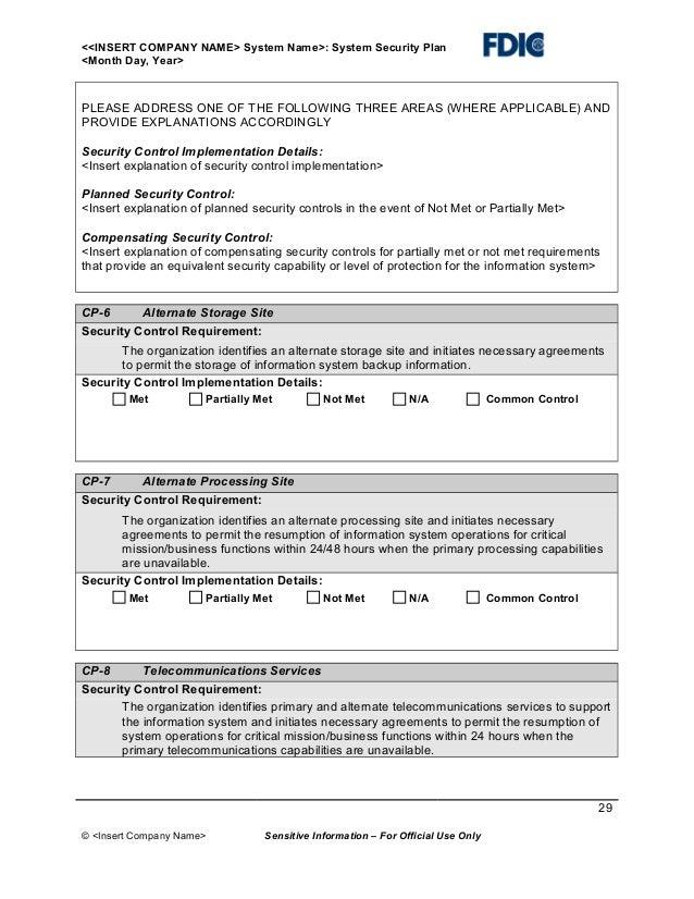 It securityplantemplate – Site Security Plan Template