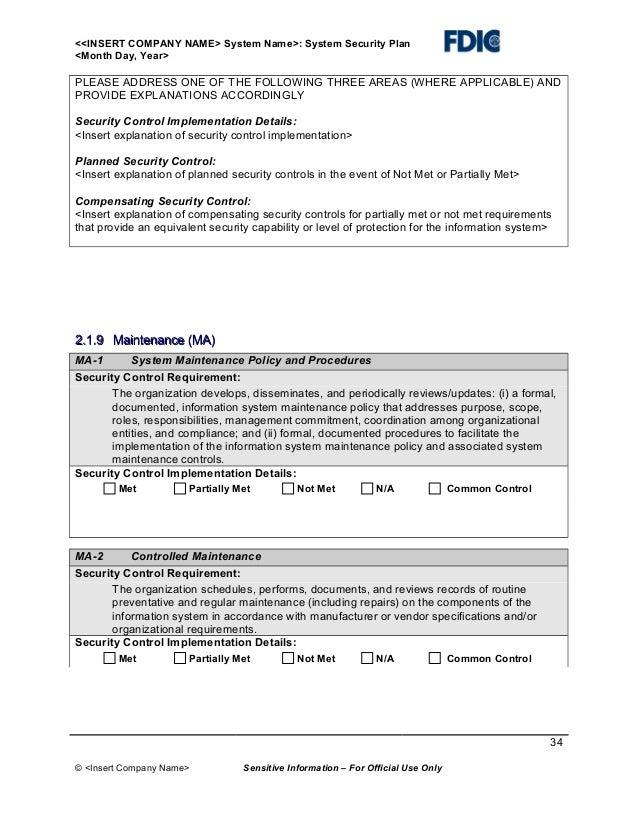 Fine hazmat security plan template vignette resume ideas enchanting system security plan template image collection examples maxwellsz