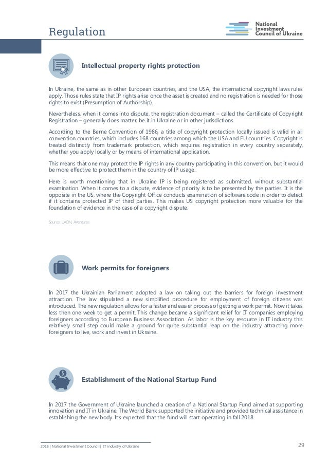 Regulation 292018   National Investment Council   IT industry of Ukraine Intellectual property rights protection In Ukrain...