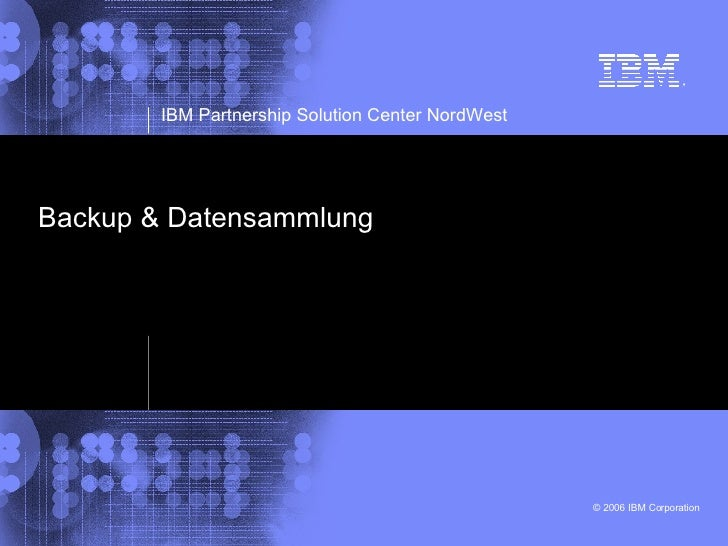 Backup & Datensammlung