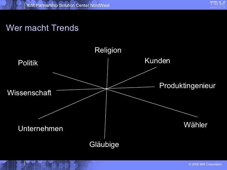 Wer macht Trends Politik Wähler Unternehmen Kunden Religion Gläubige Wissenschaft Produktingenieur