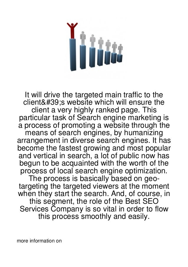 It will drive the targeted main traffic to the  client's website which will ensure the     client a very highly ranked pag...