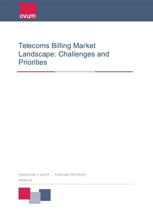 Telecom Billing Market Landscape
