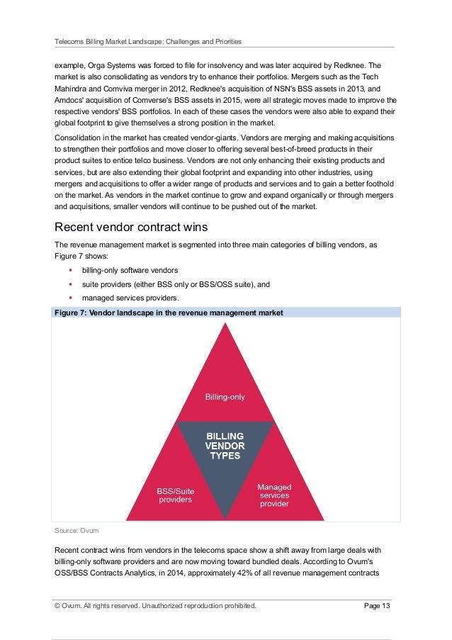 page 12 13 telecoms billing market landscape