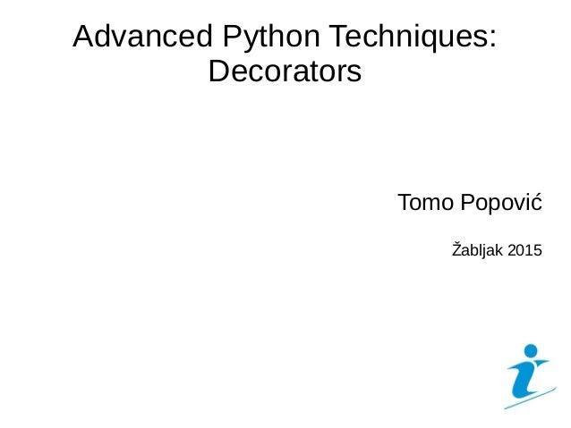 Advanced Python Techniques: Decorators