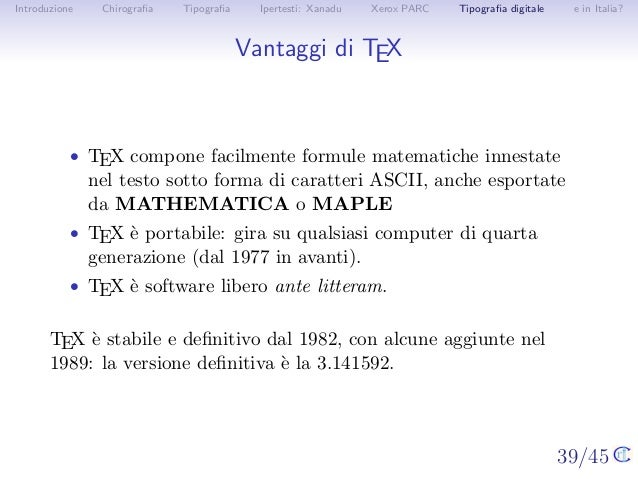 10 il computer come calcolatore 4 - Due caratteri diversi prendon fuoco facilmente ...