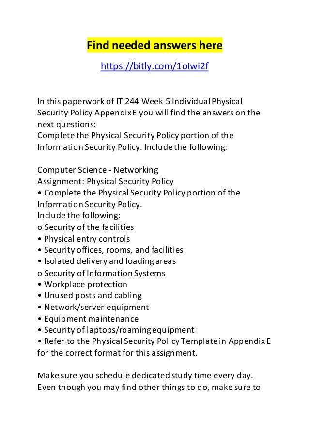 Physical security policy template image collections for It security policy templates
