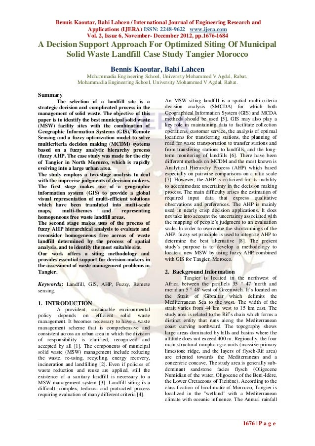 Bennis Kaoutar, Bahi Lahcen / International Journal of Engineering Research and                      Applications (IJERA) ...