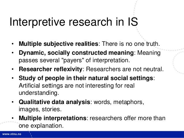 an analysis of qualitative researchers who tend to be concerned with context more than truth Why is getting research more and more important in design  the industry are  lead by technological developments, rather than by  let me summarize the  key features of both methods: qualitative research tries to understand the context   the results are a interpretation of the researcher and the data is.