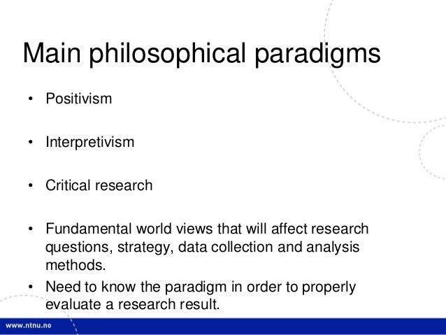 "exploring research methodologies positivism and interpretivism Interpretivism is a trend of research approach or even research methodology in ""qualitative research is a means for exploring and."