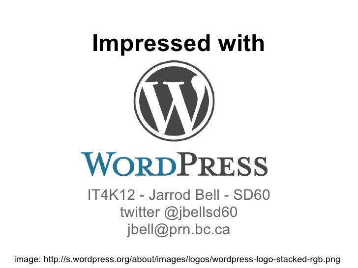 Impressed with                 IT4K12 - Jarrod Bell - SD60                     twitter @jbellsd60                      jbe...