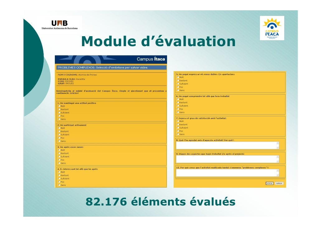 Module d'évaluation