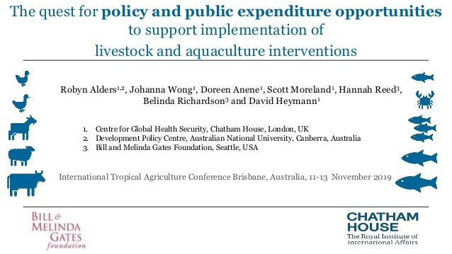 The quest for policy and public expenditure opportunities to support implementation of livestock and aquaculture intervent...