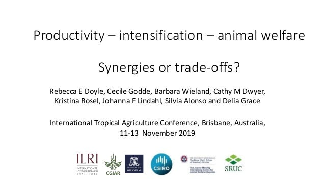 Productivity – intensification – animal welfare Synergies or trade-offs? International Tropical Agriculture Conference, Br...